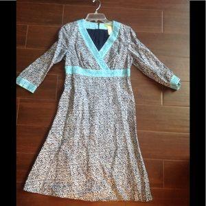 Sigrid Olsen Dress 6 🗺 EUC Great Beaded Detail